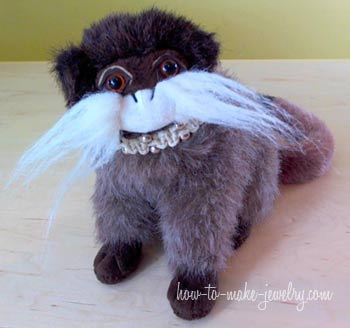 Stuffed Animal with Hemp Bracelet Collar