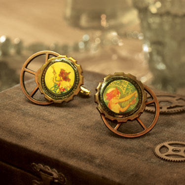 Tutorial for steampunk cufflink  How-to-Make-Jewelry.com