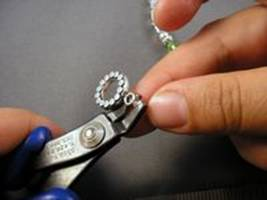 Mommy Bracelet - Gently closing the crimp cover