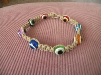 Mixed Evil Eye Bead Bracelet