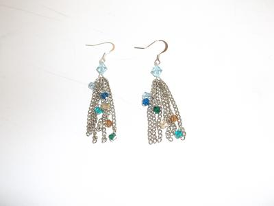 Swarovski OOAK Tassel Earrings