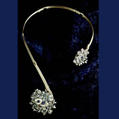 Neck Collar with Keishi Pearls